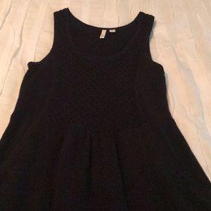 FRENCHI Mini Knitted Black Dress (ADULT XSMALL)